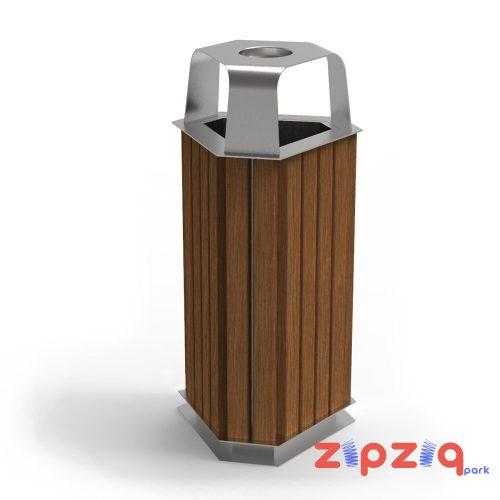 Üçgen Metal Çöp Kovası