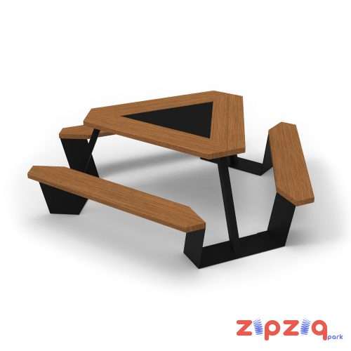 Ahşap Piknik Masası Üçgen