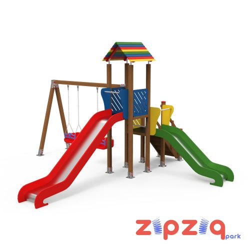 Kaydıraklı ve Salıncaklı Çocuk Oyun Grubu