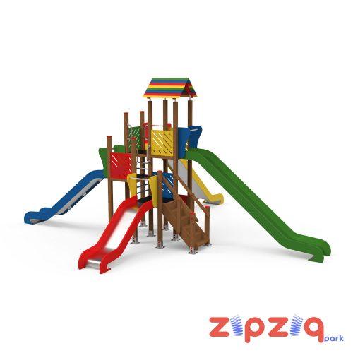 Metal Tırmanma Merdivenli Çocuk Oyun Grubu