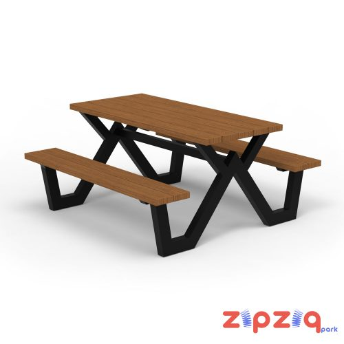 Ahşap Piknik Masası Çapraz Ayaklı